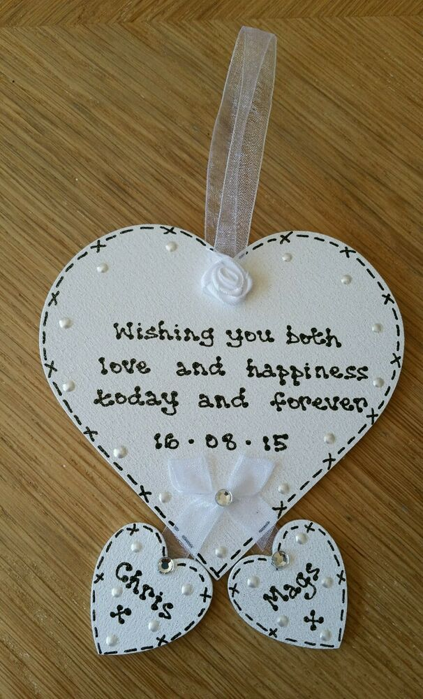 Wedding Keepsake Gifts Uk : ... PERSONALISED - wedding heart keepsake gift -BEAUTIFUL *** eBay