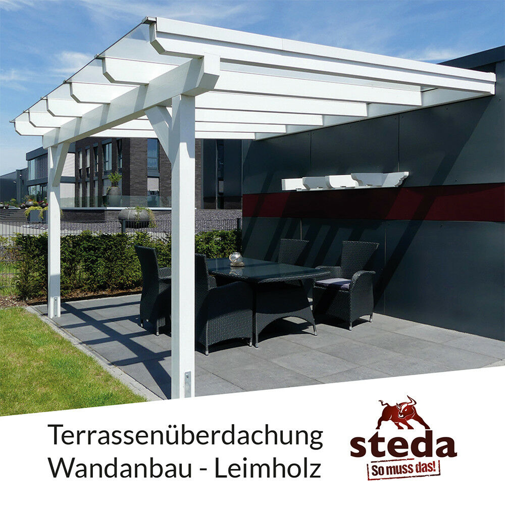 terrassen berdachung holz mit vsg 10 mm glas anlehncarport carport pergola ebay. Black Bedroom Furniture Sets. Home Design Ideas