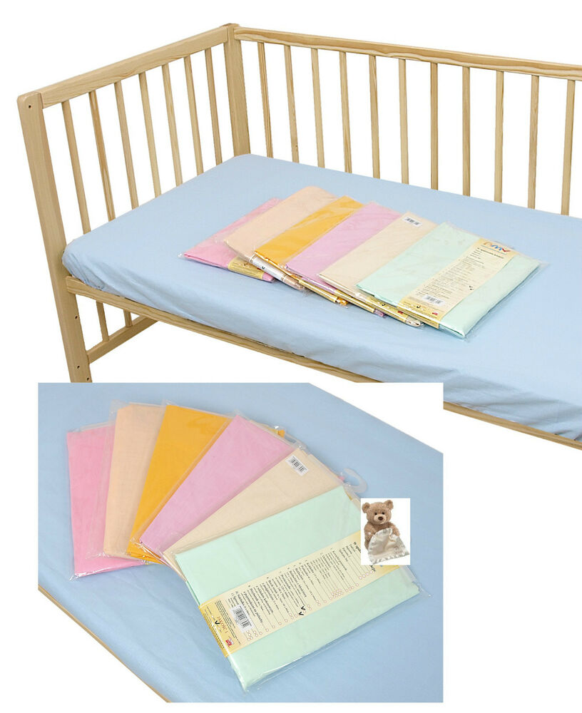 NEW 2x Cot Bed Cotbed Fitted Sheets 100% Cotton 120x60