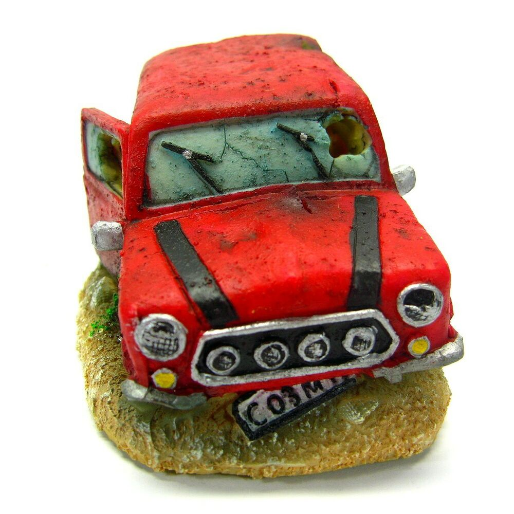 "Car Bubbles 5.7x3.4x2.8"" Aquarium Ornament Decoration"