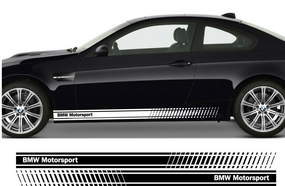 Bmw Motorsport Premium Side Stripes Stickers Decals Series