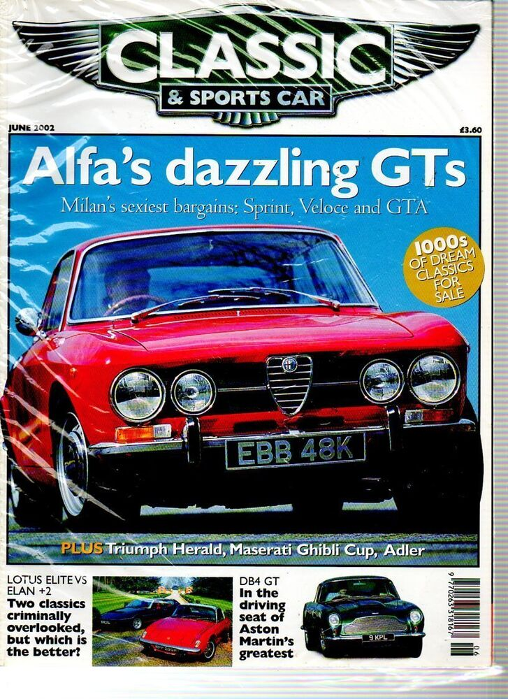 classic sports car magazine june 2002 ebay. Black Bedroom Furniture Sets. Home Design Ideas