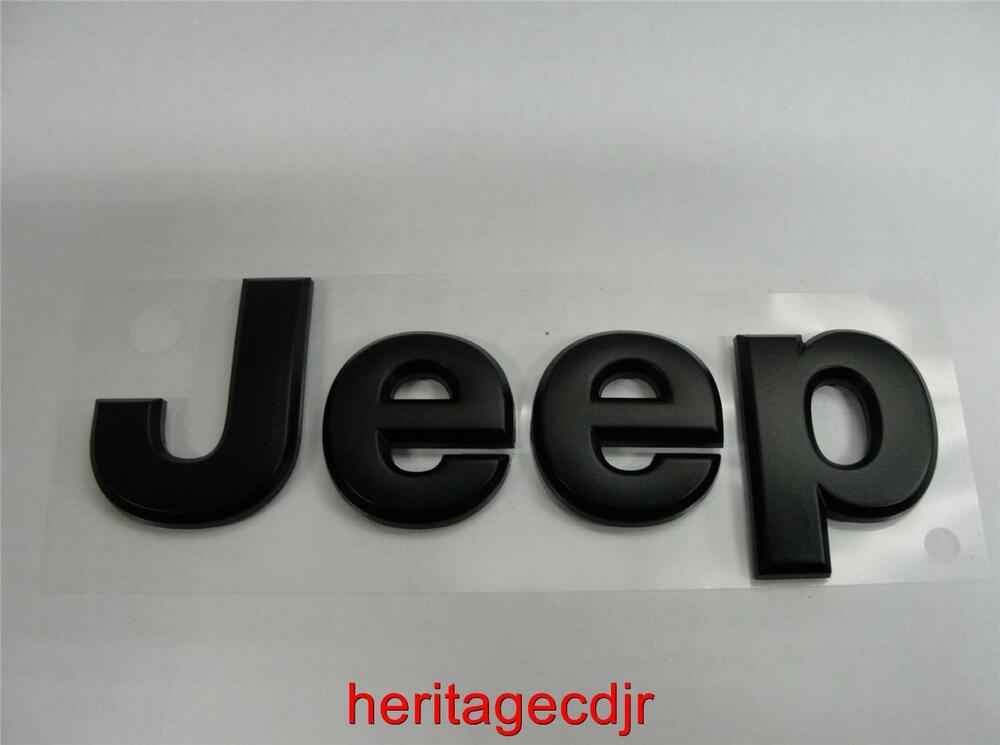 """""""Blacked Out"""" Factory OEM JEEP Replacement Emblem by Mopar ..."""