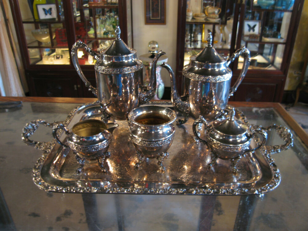 Vintage Sheridan Silver Co Silver On Copper Silver Plated