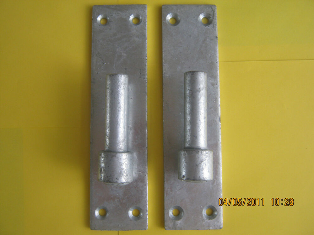 Heavy Duty Galvanised Wrought Iron Gate Hinges 19mm 3 4