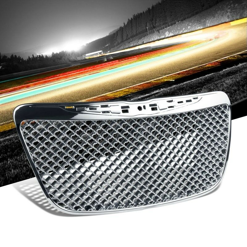 Front Bentley Mesh Style Chrome Replacement Grille For