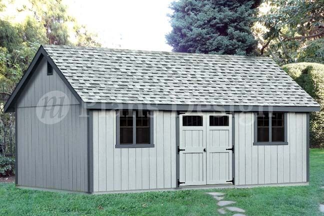 16 39 x 24 39 reverse gable backyard storage shed plans for Gable style shed