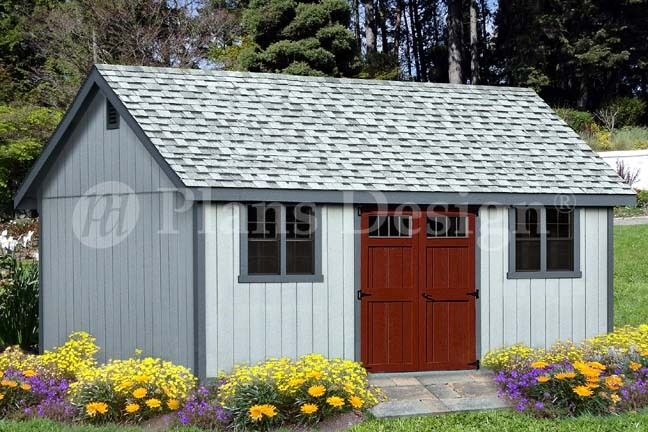 Shed plans 16 39 x 20 39 reverse gable roof style d1620g for Gable roof barn plans