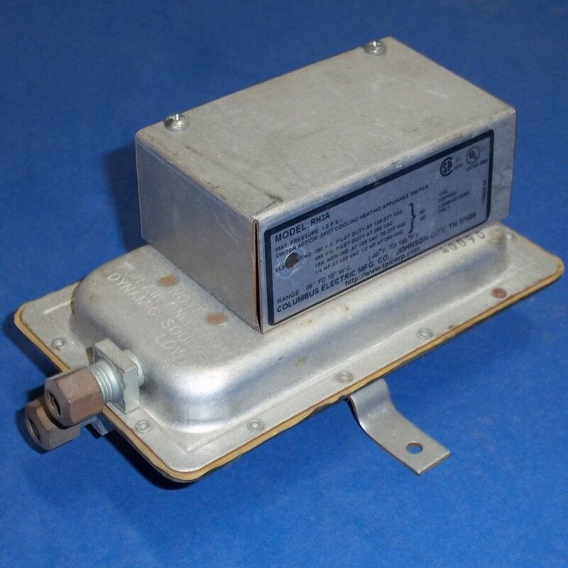 Columbus electric vac psi air flow switch rh a