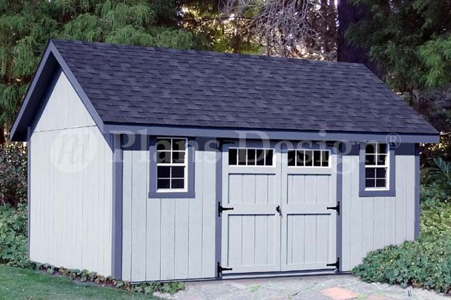 storage shed plans 12 x 14 gable roof design d1214g material list included ebay - Garden Sheds 8 X 14