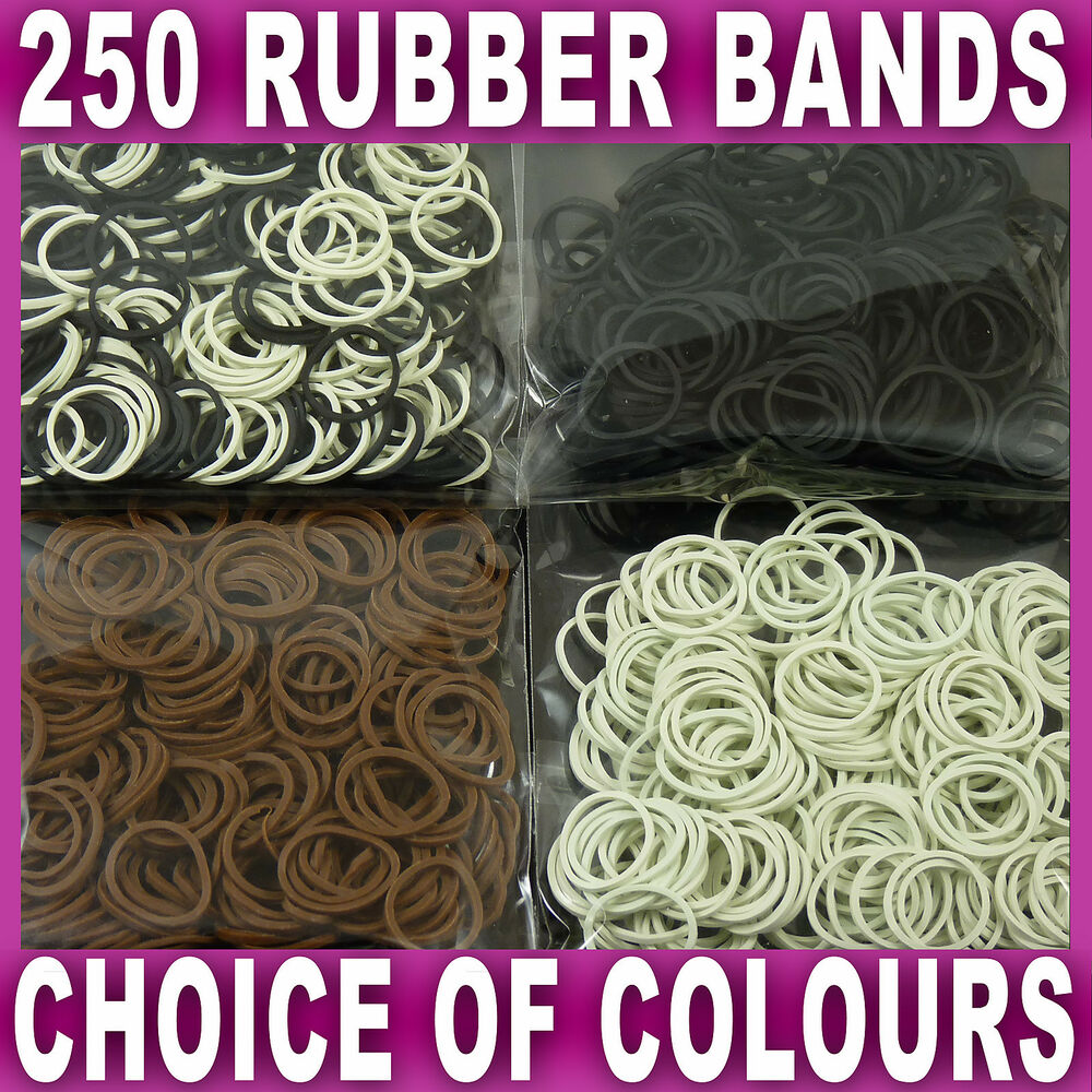 250 Mini Hair Elastics Rubber Bands Braids Braiding Plaits