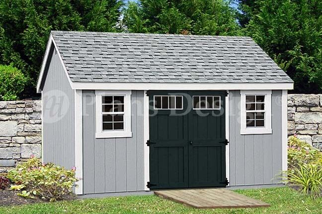 Garden storage shed plans 10 39 x 14 39 gable roof design for Gable style shed