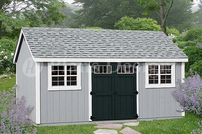 Garage With Storage Free Materials List: Garden Tool Storage Shed Plans 10' X 20' Gable Roof