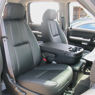 Aftermarket Chevy Truck Seats >> 2007 - 2009 Silverado Crew Leather Interior seat covers - Black | eBay
