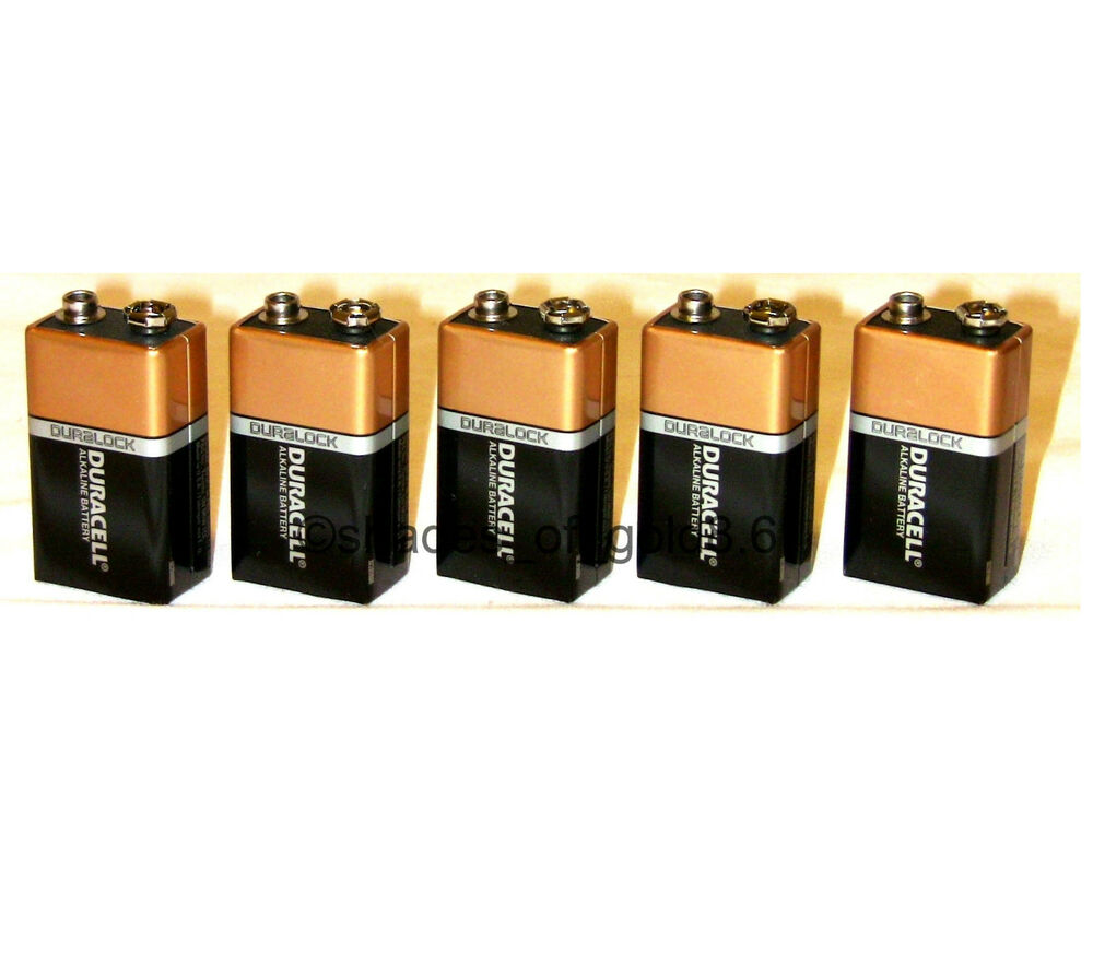 5 x 9 volt 9v duracell coppertop duralock alkaline. Black Bedroom Furniture Sets. Home Design Ideas