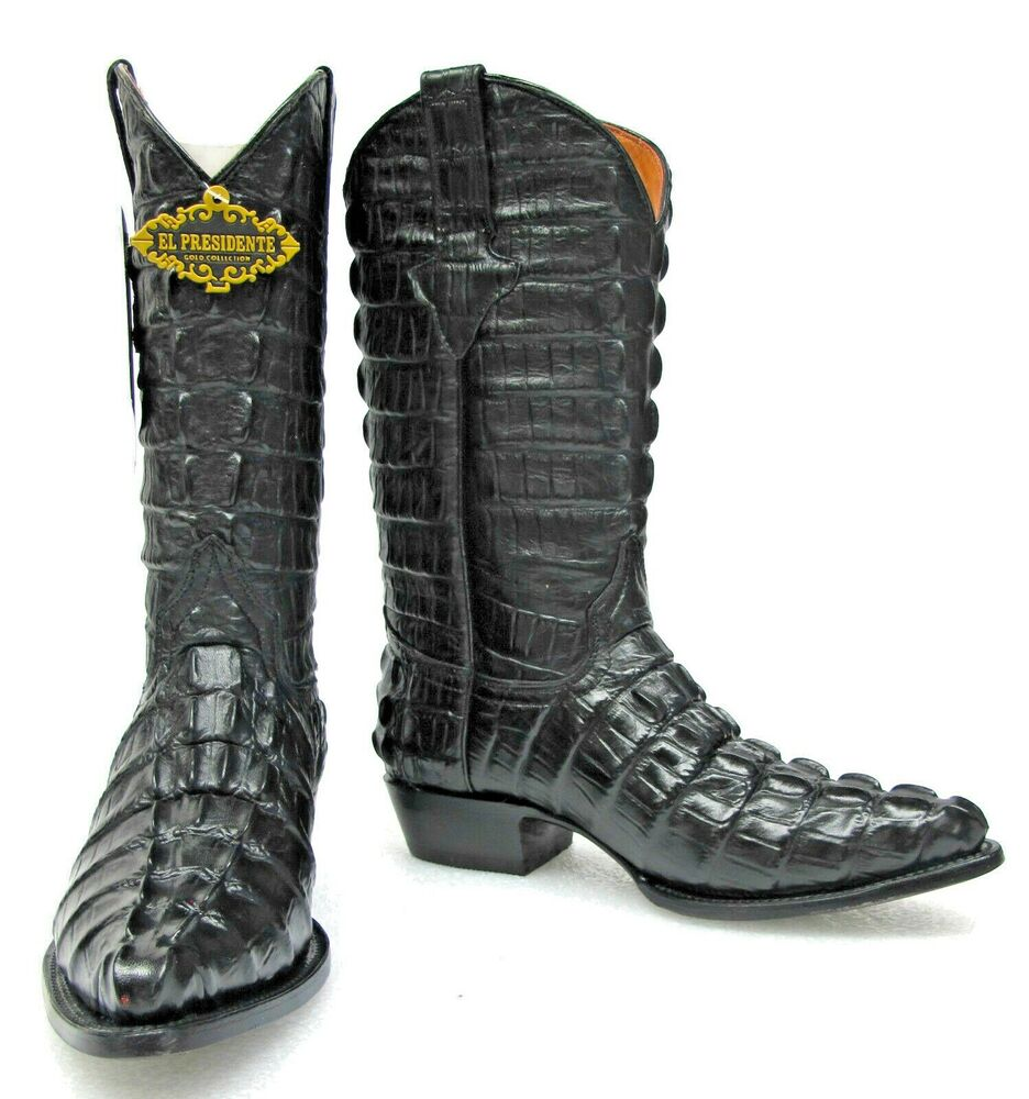 s new crocodile alligator leather cowboy