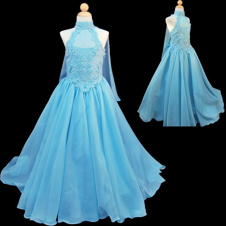 New girl national pageant wedding party formal dress 7 8 for Dresses for 10 year olds for a wedding