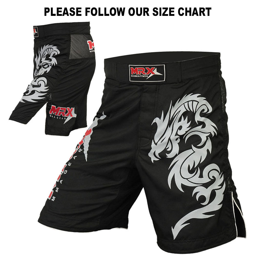 Mma: MRX MMA Shorts Grappling UFC Fighting Cage KickBoxing