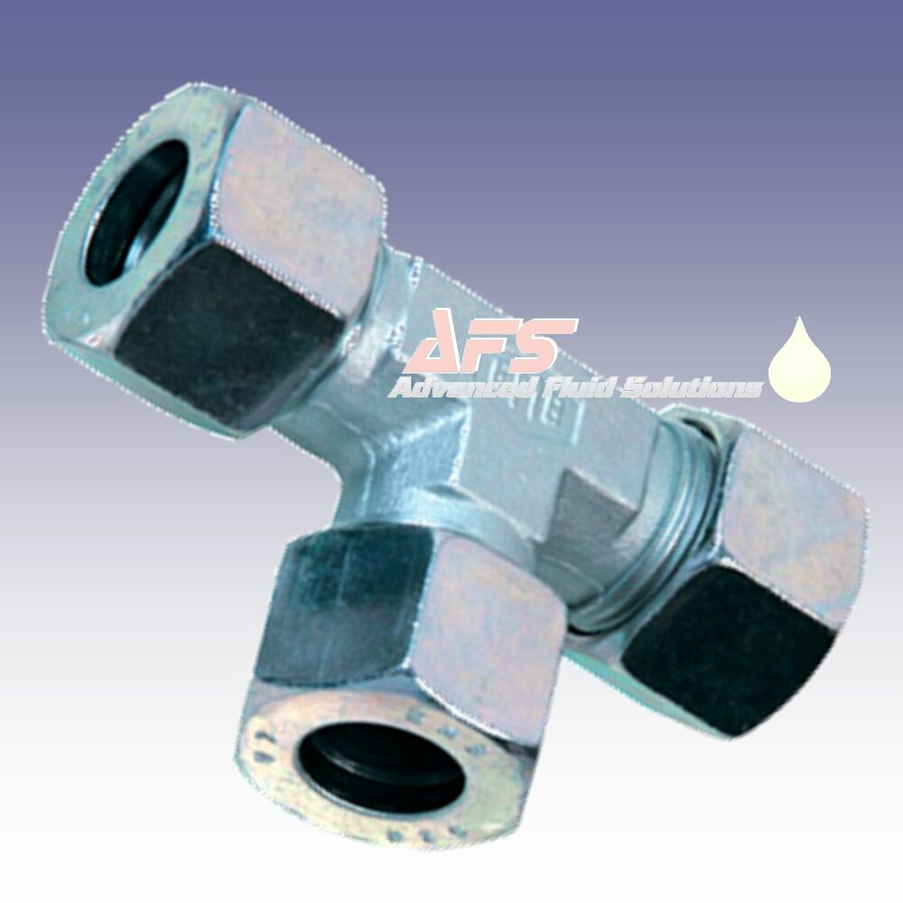 Hydraulic Pipe Puller Tee : Hydraulic tee metric tube equal compression fitting