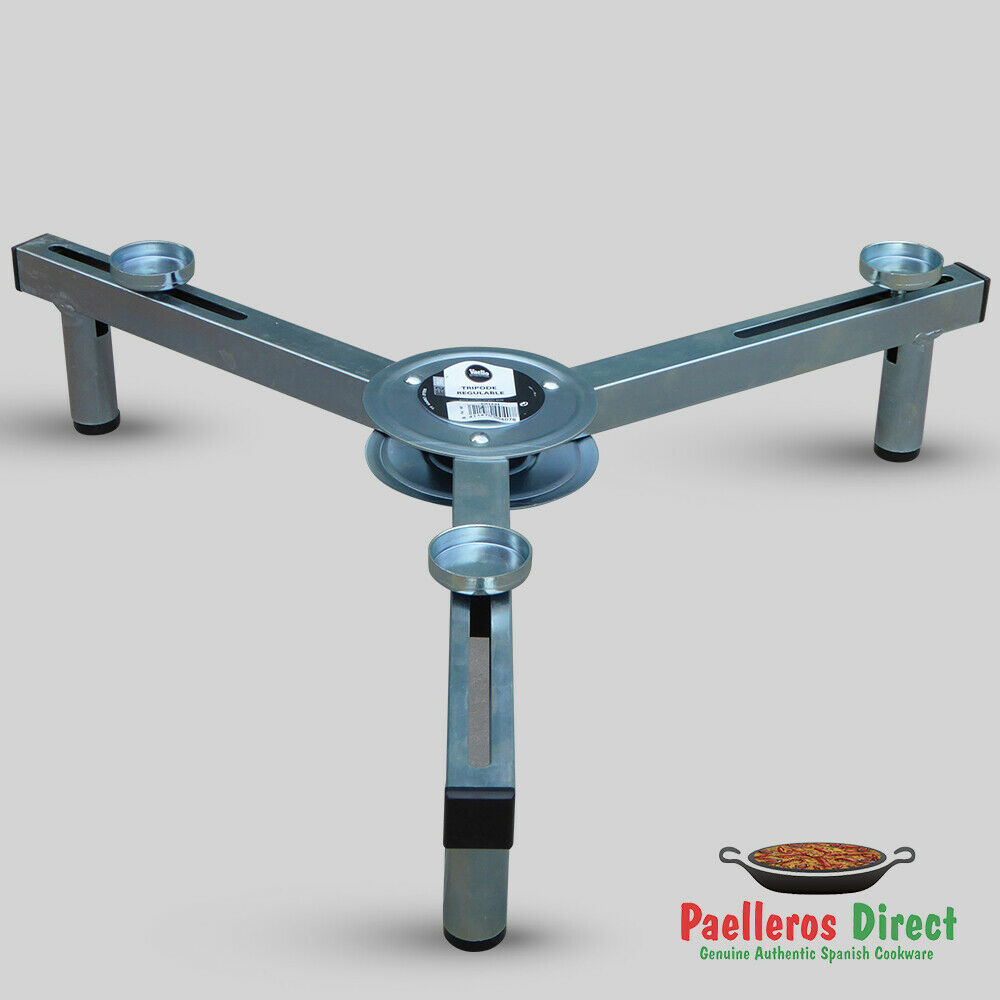 Fully Adjustable Short Table Top Folding Paella Burner