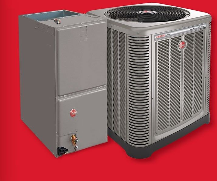 Rheem 14 Seer 2 5 Ton Central Air Condensing Unit And