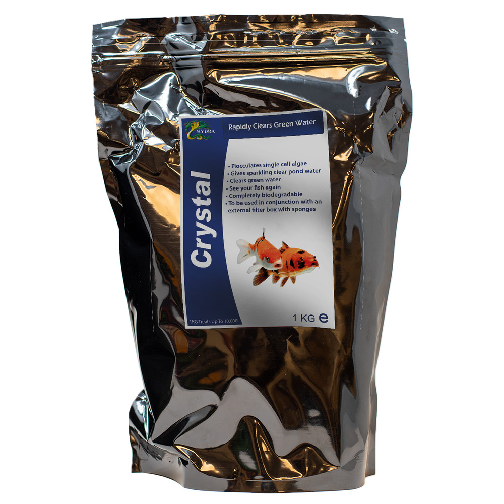 Koi fish pond algae green cloudy water treatment hydra for Koi pond water murky