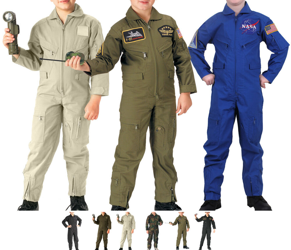 Camouflage kids us air force military flight suit coveralls ebay
