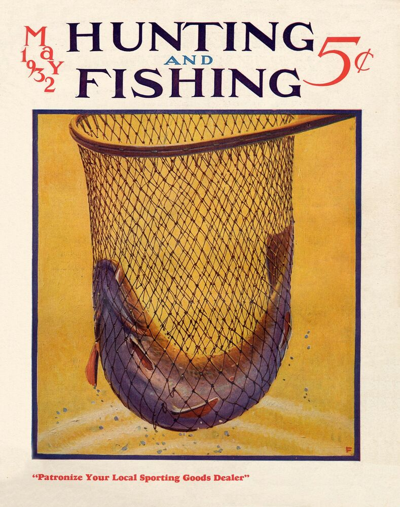 Fly fishing magazine cover poster art st croix shakespeare for Fly fishing magazine