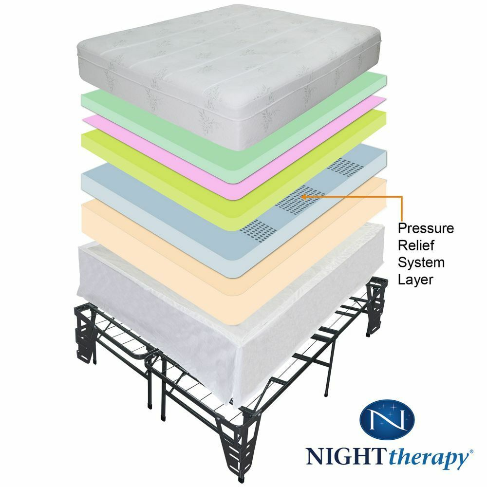 10 Quot Night Therapy Pressure Relief Memory Foam Mattress