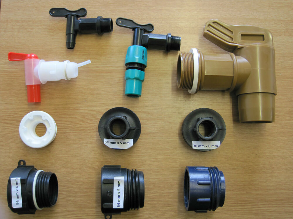Barrel adaptor tap fitting plastic steel water fuel oil