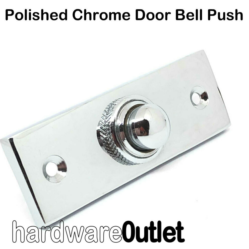 Polished chrome victorian oblong bell push 2941 door for Door bell push
