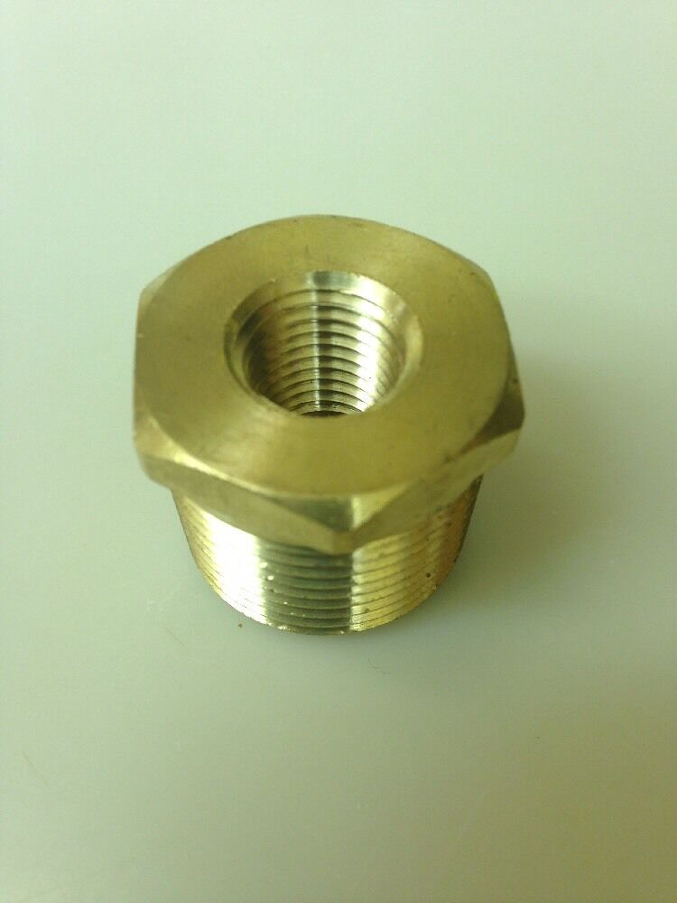 Brass quot hex reducing bushing usa npt ebay