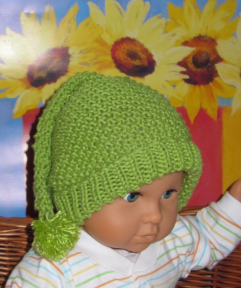 Knitting Pattern For Bobble Hat For Babies : KNITTING INSTRUCTIONS-BABY MOSS ST PIXIE BOBBLE SLOUCH HAT KNITTING PATTERN ...