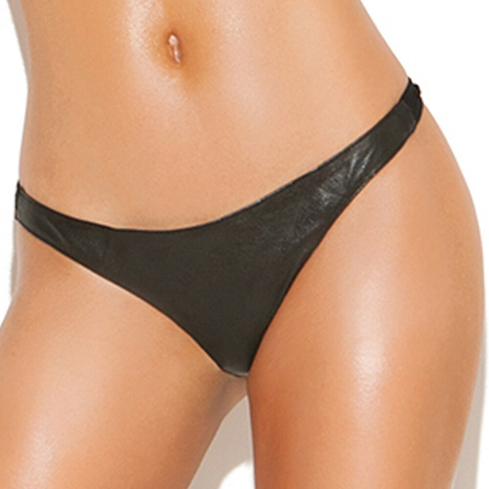 Black Leather Panties 120