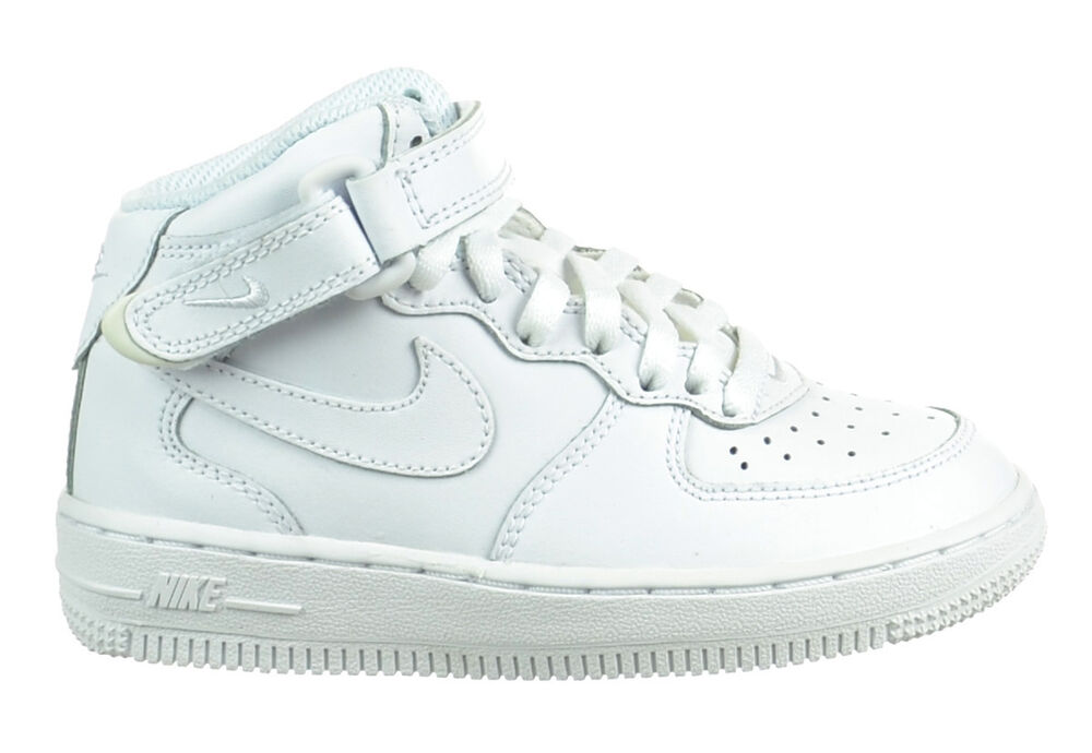 05a758cd2bf Nike Air Force 1 Mid (PS) Preschool Kids Shoes Leather Uptowns White  314196-113