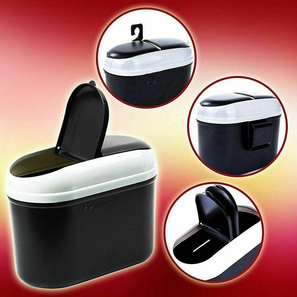 zone tech traveling car house small portable trash garbage can wastbasket bin ebay. Black Bedroom Furniture Sets. Home Design Ideas