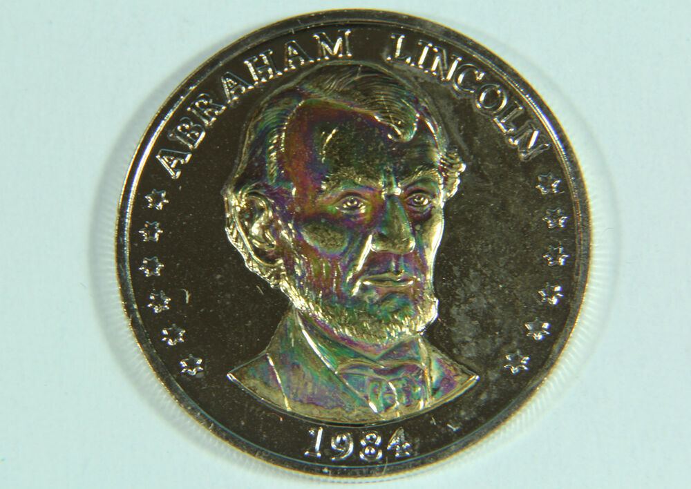 Abraham Lincoln 24 Kt Gold Plated President Commemorative