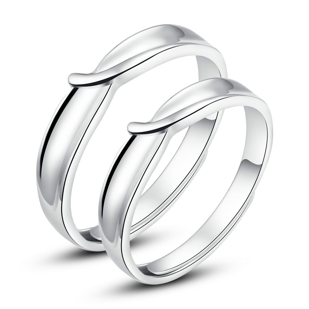 his and hers rings promise rings adjustable open ring set