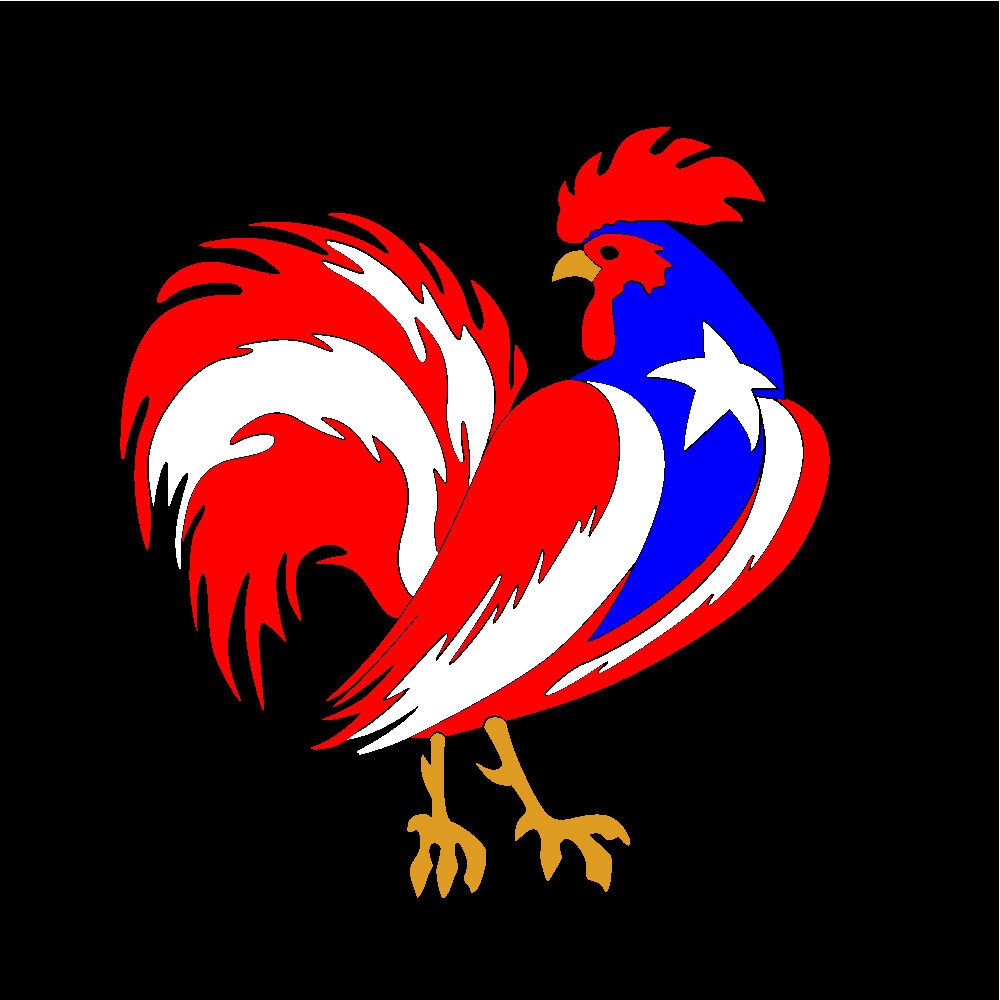puerto rico car decal sticker gallo rooster with flag 178. Black Bedroom Furniture Sets. Home Design Ideas