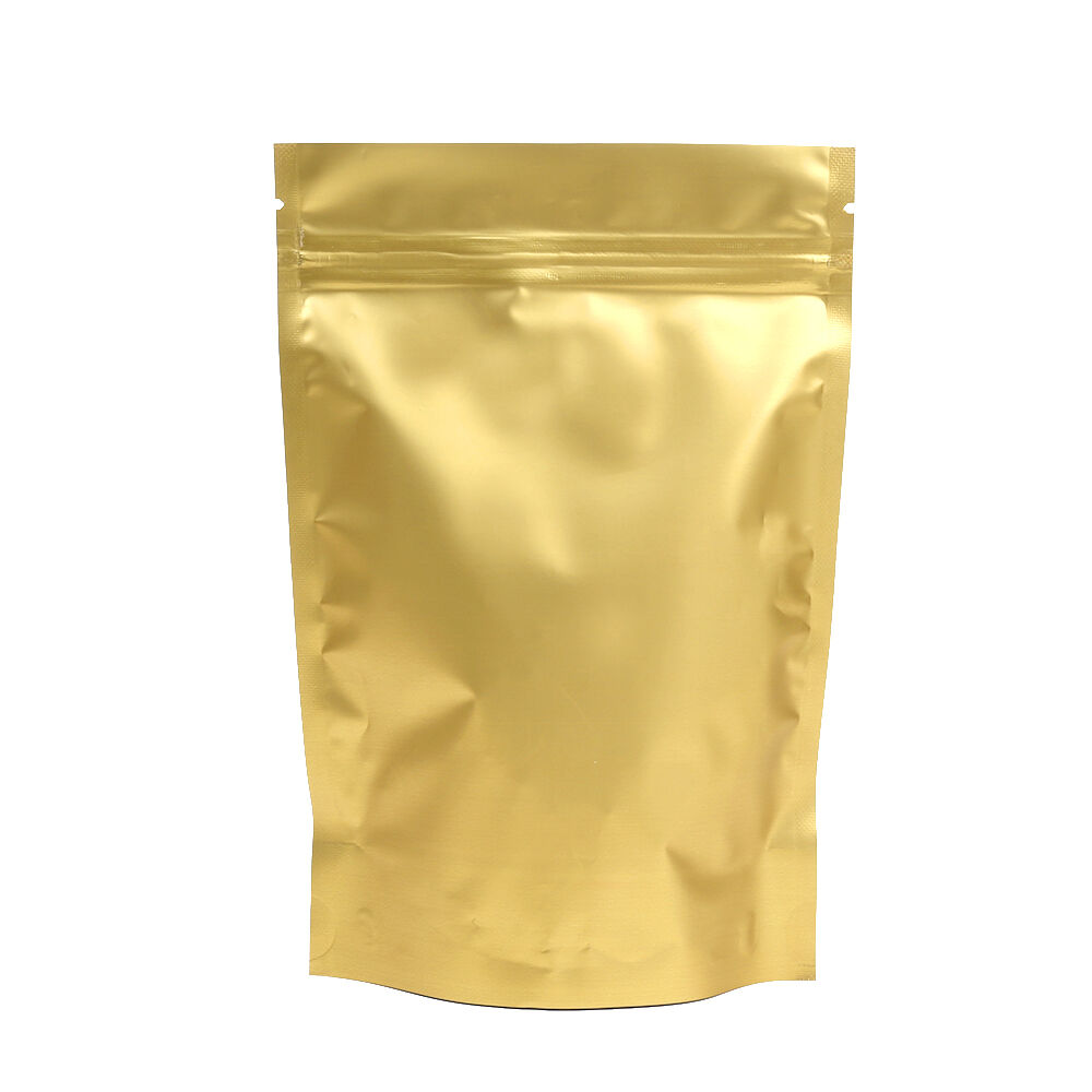 tea coffee nut packing gold stand up zip lock bag 12 18cm 4 7 7 100pcs ebay. Black Bedroom Furniture Sets. Home Design Ideas