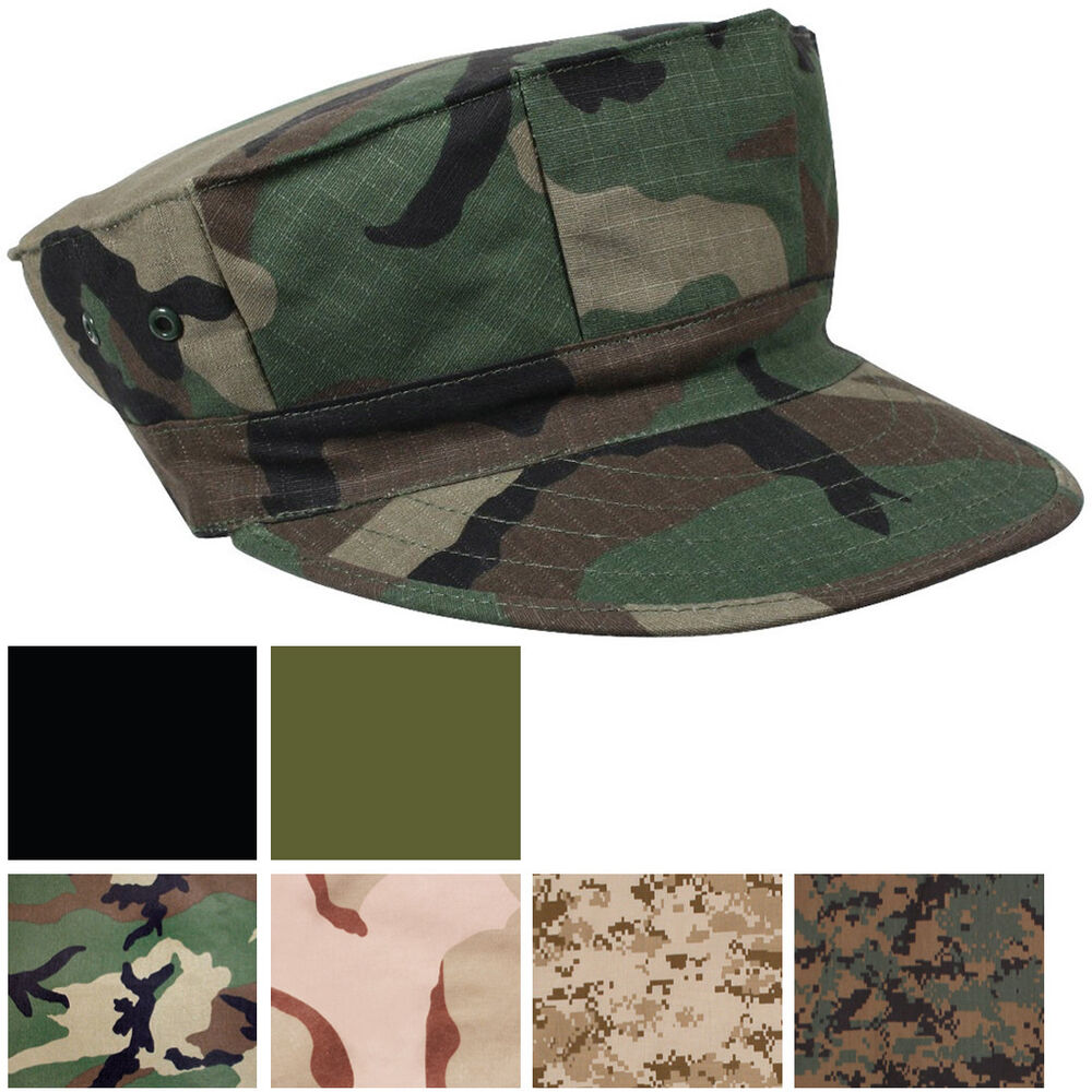 Marines Military Fatigue Hat BDU Cap 8 Point USMC Utility