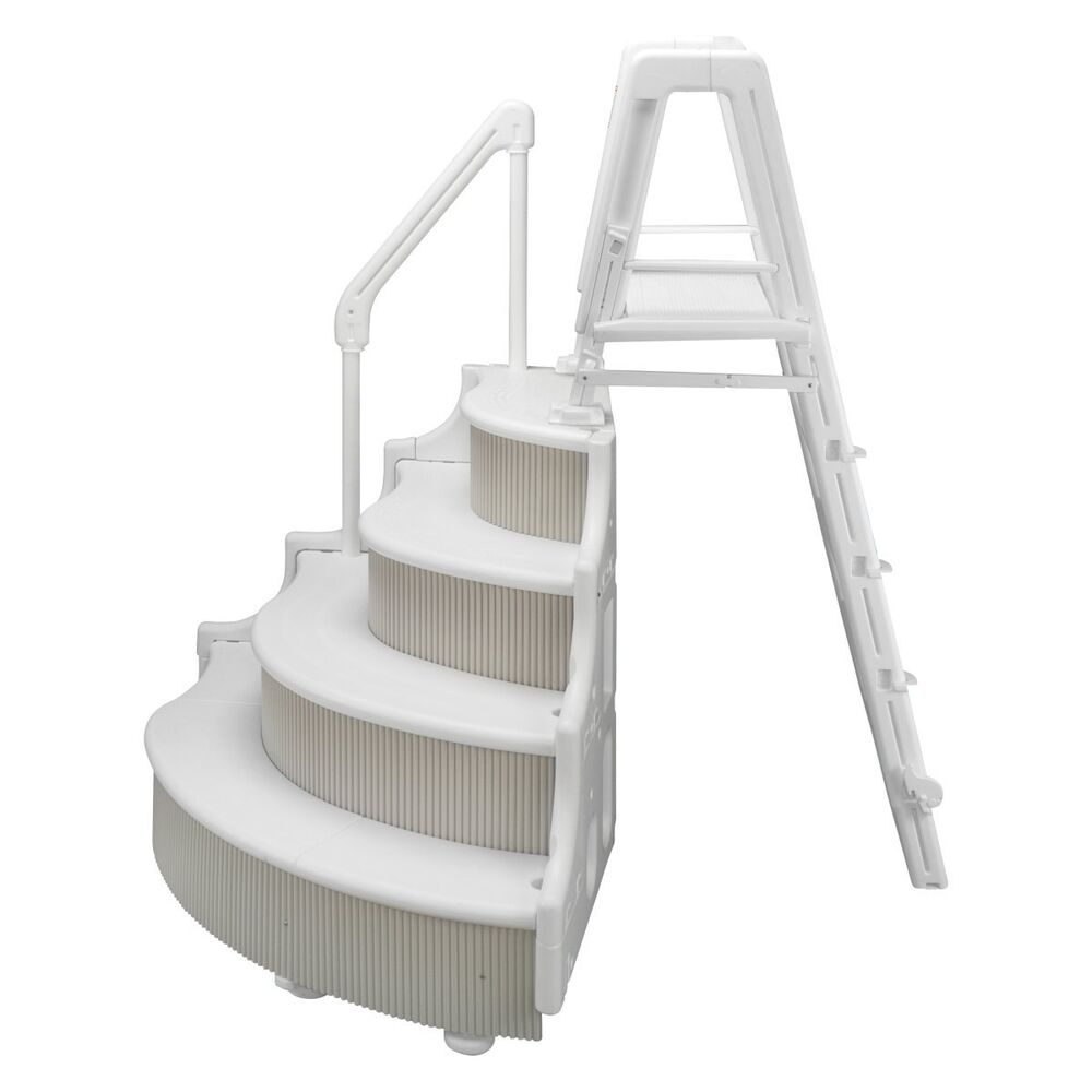 wedding cake stairs for above ground pool instruction manual grand entrance steps amp outside ladder for above ground 25595