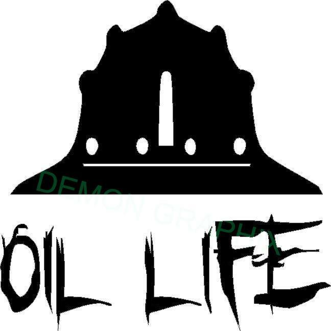Oil Life Hard Hat Vinyl Decal Sticker 4x4 Oilfield Rig