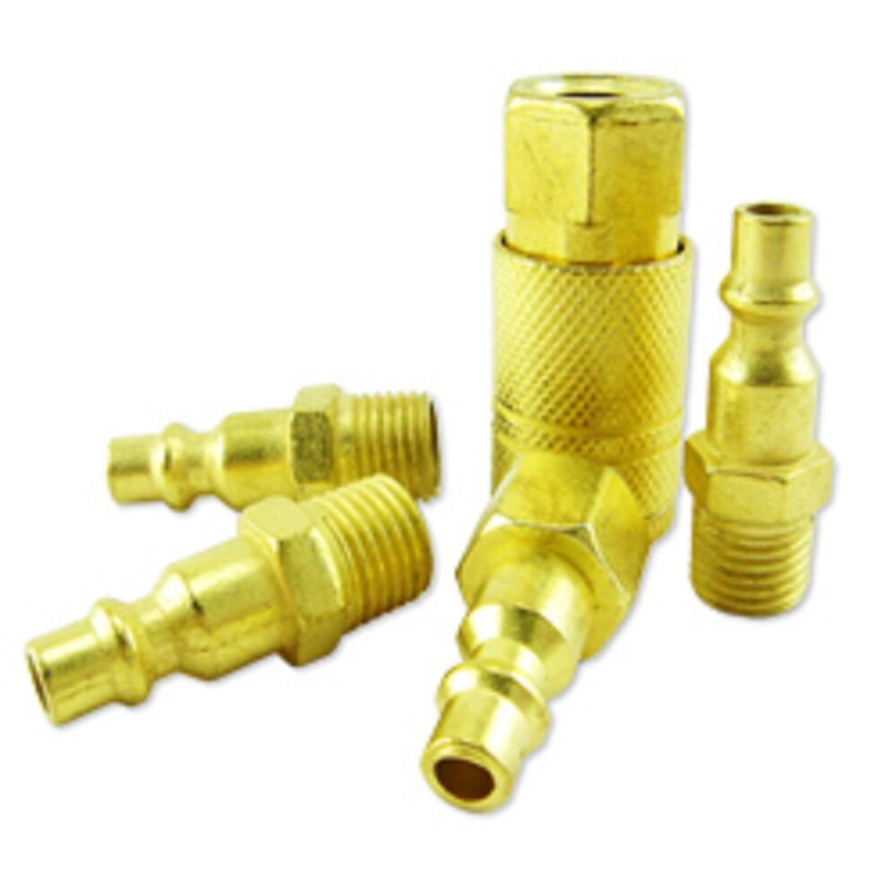 5 Pc Quick Coupler Set Brass Coupler Set Air Hose Coupler Air Hose Connectors Ebay