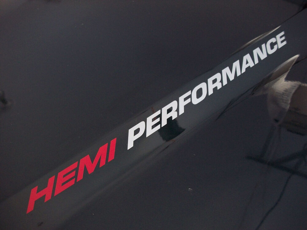 hemi performance  pair  dodge ram hood 1500 2500 sticker decals emblem 5 7l v8