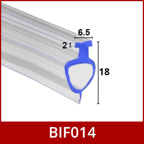 Bottom Pvc Extrusion Channel Seal Strip For Folding Bath
