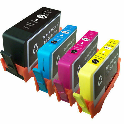 4 non oem replaces use in for hp 364 xl ink cartridges 364xl ebay. Black Bedroom Furniture Sets. Home Design Ideas