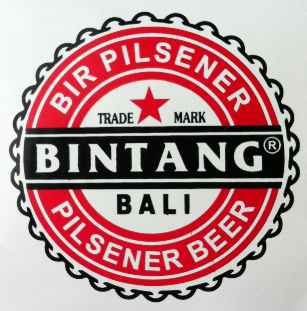Details about 5 x bali bintang stickers decal 100mm pack 5 beer surfing singlet style