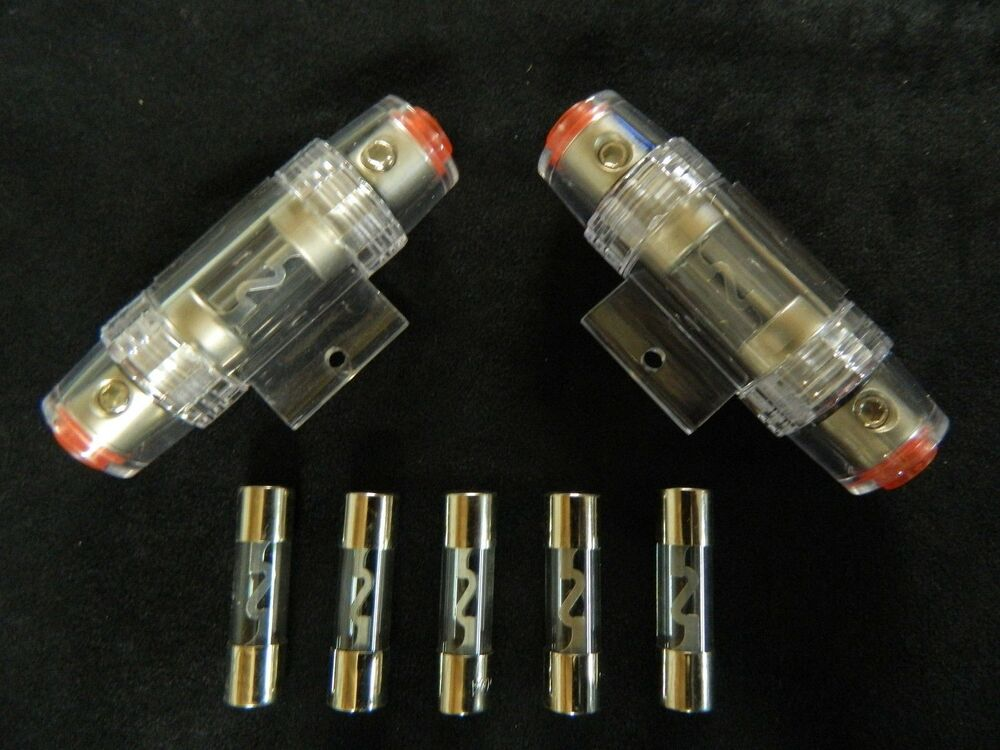 amp wiring fuse 2004 chrysler town amp country fuse box diagram 2 pack 8 gauge agu fuse holder w/ 5 pk 80 amp in line ...
