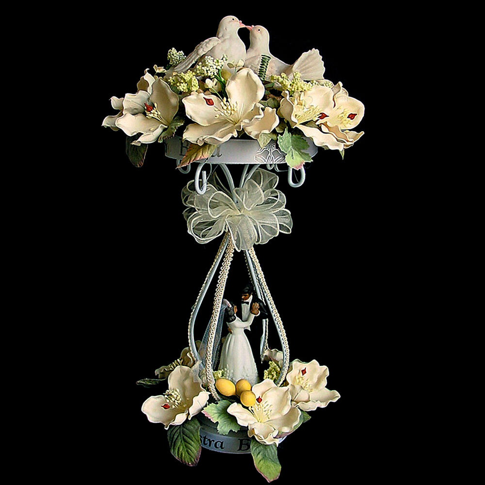 Pc decorative white tall single pillar metal centerpiece